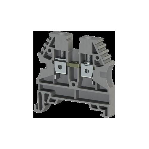 304130RP, Клеммник на DIN-рейку 4мм.кв. (серый); AVK4(RP) (упак 80 шт)