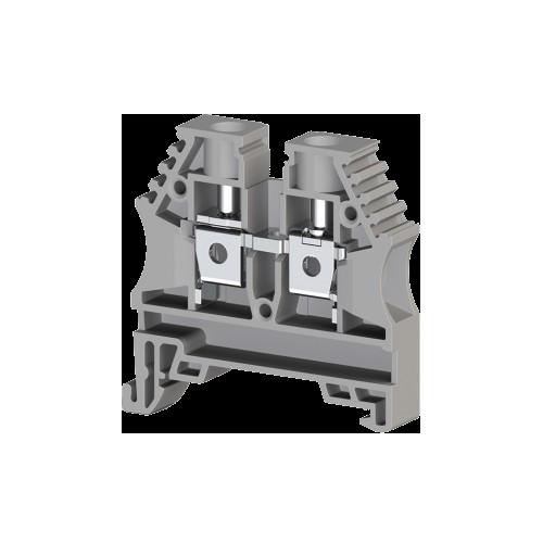 304140RP, Клеммник на DIN-рейку 6мм.кв. (серый); AVK6(RP) (упак 60 шт)