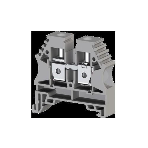 304150RP, Клеммник на DIN-рейку 10мм.кв. (серый); AVK10(RP) (упак 50 шт)