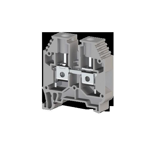 304160, Клеммник на DIN-рейку 16мм.кв. (Серый); AVK16 (упак 50 шт)