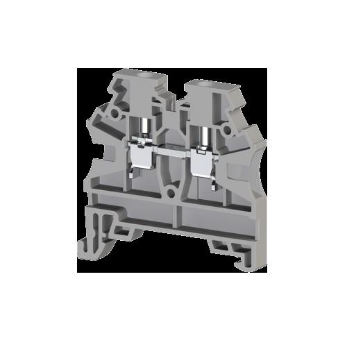 304200RP, Клеммник на DIN-рейку 2,5мм.кв. (серый); AVK2,5 RD(RP) (упак 100 шт)