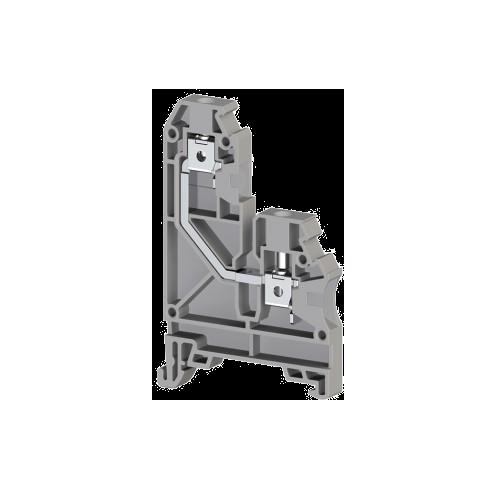 304270, Клеммник на DIN-рейку, 4мм.кв., односторонн., (серый); AVK 4GD (упак 100 шт)
