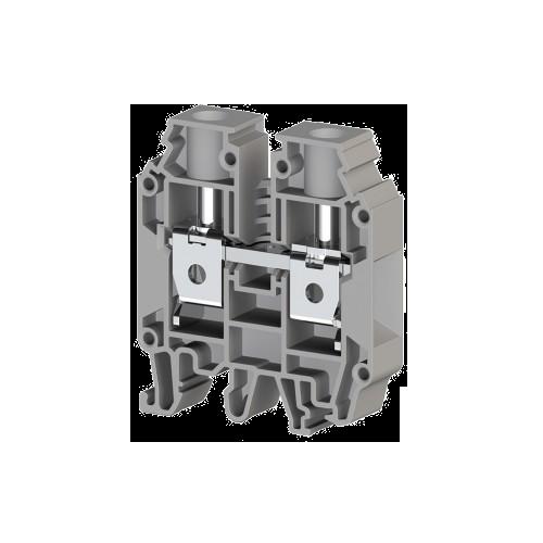 304290, Клеммник на DIN-рейку 25мм.кв. (серый); AVK25 RD (упак 50 шт)