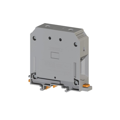 304340, Клеммник на DIN-рейку 95мм.кв., (серый); AVK95 (упак 6 шт)