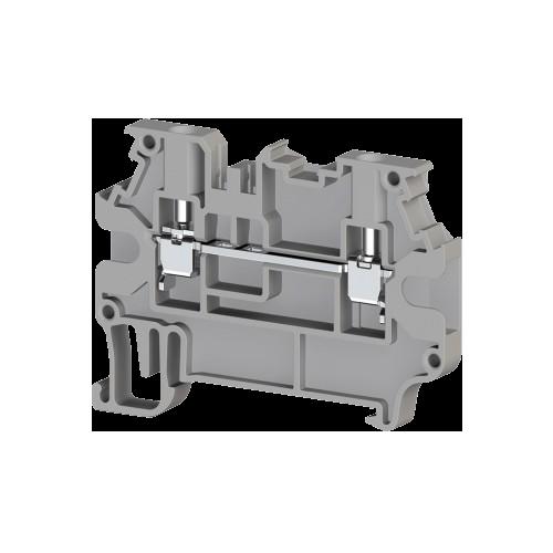 304409, Клеммник на DIN-рейку 2,5мм.кв., 2 ряда перем., (серый); AVK 2,5R (упак 50 шт)