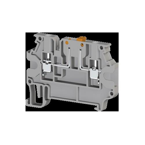 304419, AVK 2,5 A; Клеммник с размыкателем на DIN-рейку, 2,5 мм.кв. (серый) (упак 50 шт)