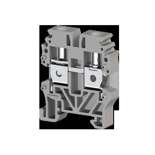 304439, Миниклеммник винтовой 4 мм.кв. (серый); MVK4 (упак 100 шт)