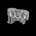 306249, Клеммник пружинный 6мм.кв. (серый); YBK6 (упак 100 шт)