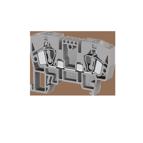 324919, Клемма 4-х выв., с зоной размыкания, 2,5 мм.кв., (серая); AVK 2.5 CF (упак 80 шт)