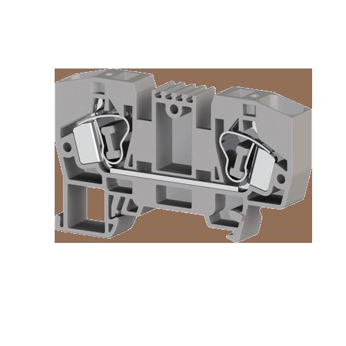 306259, Клеммник пружинный 10мм.кв. (серый); YBK10 (упак 50 шт)