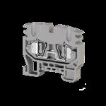 306429, Миниклеммник пружинный на DIN-рейку (MR15), 2,5 мм.кв. (серый); MYK2,5 (упак 50 шт)