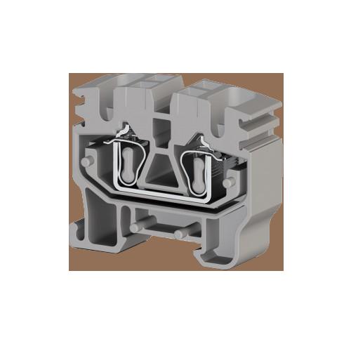 306479, Миниклеммник пружинный на монт.плату, 2,5 мм.кв. (серый); MYK 2,5C (упак 100 шт)
