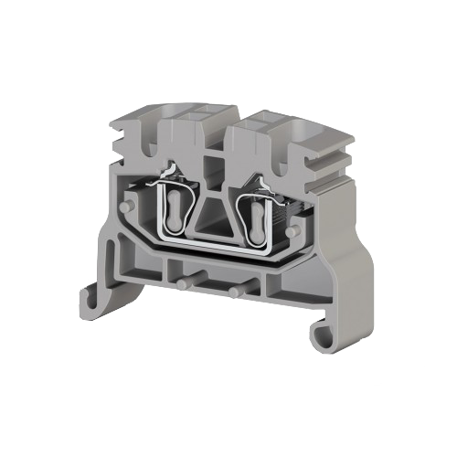 306499, Миниклеммник пружинный на монт.плату, 2,5 мм.кв. (серый); MYKR 2,5C (упак 100 шт)
