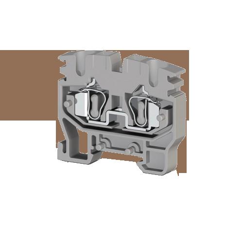 306509, Миниклеммник пружинный на монт.плату, 2,5 мм.кв. (серый); MYKR 2,5 (упак 50 шт)