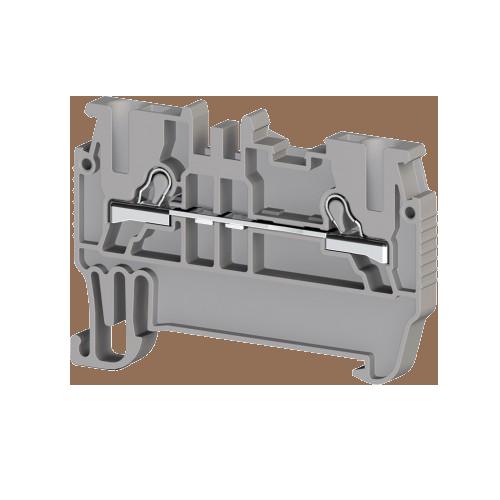307019, Клеммник пружинный быстрозажимной (Push in), 1,5 мм.кв. (серый); PYK1,5M (упак 100 шт)