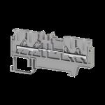 307029, Клеммник пруж.быстрозажимной (Push in), 4-х выводной, 1,5мм.кв., (серый); PYK 1,5MС (упак 70 шт)