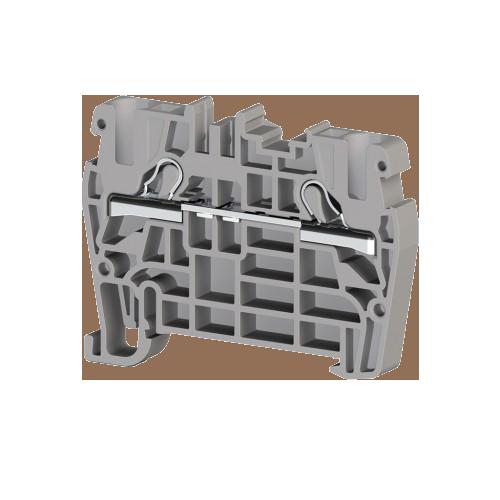 307119, Клеммник пружинный быстрозажимной (Push in), 4 мм.кв. (серый); PYK4 (упак 100 шт)