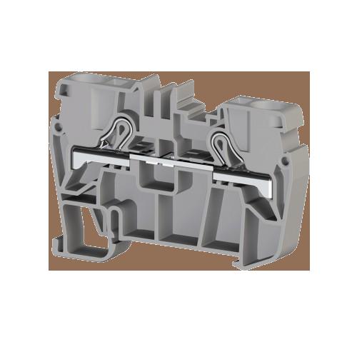 307129, Клеммник пружинный быстрозажимной (Push in), 6 мм.кв. (серый); PYK6 (упак 60 шт)