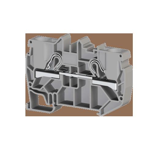 307139, Клеммник пружинный быстрозажимной (Push in), 10 мм.кв. (серый); PYK10 (упак 50 шт)