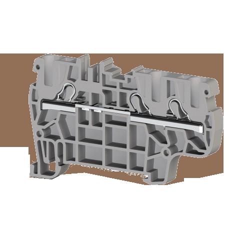 307229, Клеммник пруж.быстрозажимной (Push in), 3-х выводной, 4мм.кв., (серый); PYK 4E (упак 50 шт) 307229, Клеммник пруж.быстрозажимной (Push in), 3-х выводной, 4мм.кв., (серый); PYK 4E (упак 50 шт)