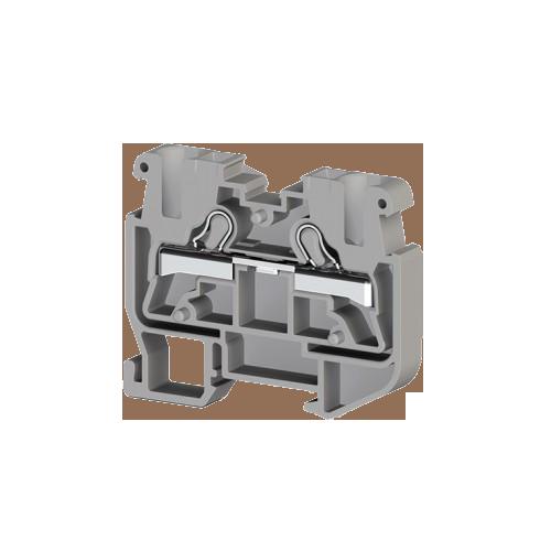 307399, Миниклеммник пруж. быстрозажимной (Push in), 2,5 мм.кв., (серый); PYKM 2,5; (упак 50 шт)