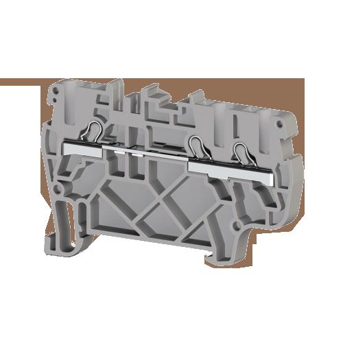 307439, Клеммник пруж.быстрозажимной (Push in), 3-х выводной, 2,5мм.кв., (серый); PYK 2,5E (упак 50 шт)
