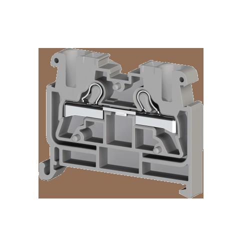 307499, Миниклеммник пруж. быстрозажимной (Push in), 2,5 мм.кв., на din-рейку 35 мм, (серый); PYKMR 2,5 (упак 50 шт)
