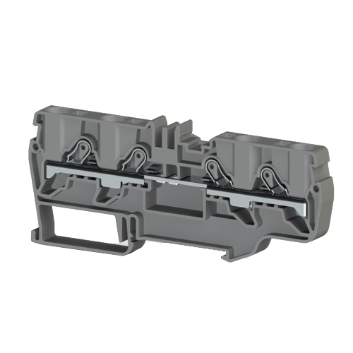 307649, Клеммник пружинный быстрозажимной (Push in), 6 мм.кв. (серый); PYK 6C (упак 35 шт)