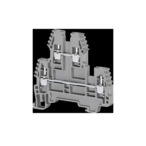 317109, Клеммник 2-х ярусный, 2,5мм.кв. (серый); PIK2,5N (упак 100 шт)