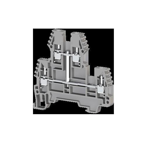 317121, Клеммник 2-х ярусный, 2,5 мм.кв., с внутр.перемычкой, (синий); PIK2,5NK (упак 20 шт)