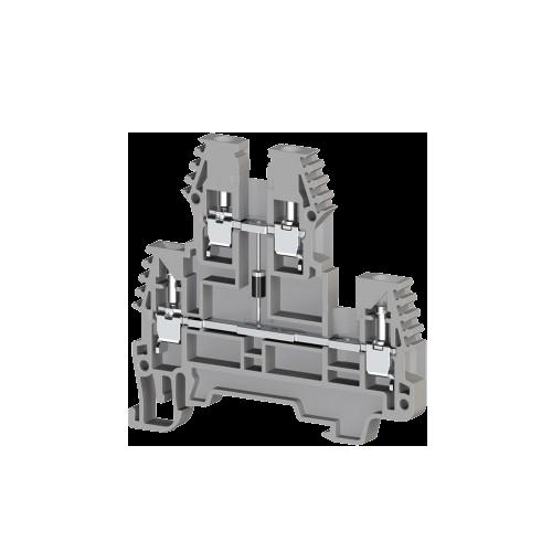 317419, Клеммник 2-х ярусный, 2,5 мм.кв., с индикацией 48 VAC, (серый); PIK2,5 NLD 48VAC (упак 20 шт)