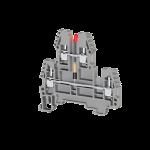 317729, Клеммник 2-х ярусный, 2,5 мм.кв., с индикацией 220 VDC, (серый); PIK2,5 NLD 220VDAC (упак 20 шт)
