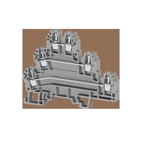 324109, Клеммник 3-х ярусный 2,5мм.кв. (серый); PUK3 (упак 20 шт)