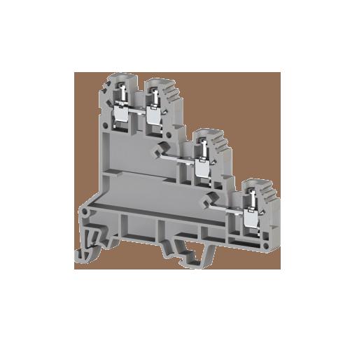 324409, Клеммник 3-х ярусный для датчиков, 2,5мм.кв., (серый); PUK 3S (упак 20 шт)