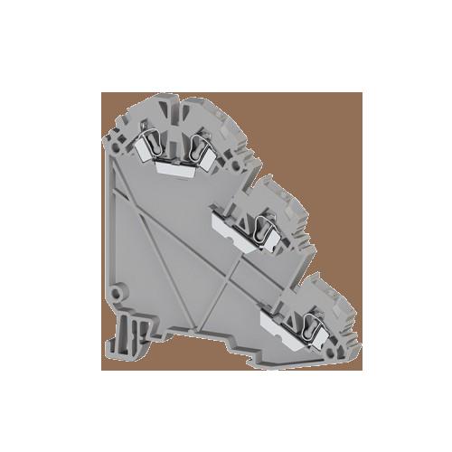 324709, Клеммник пружинный для датчиков, 2,5 мм.кв., (серый); YBK 2,5-3S (упак 20 шт)