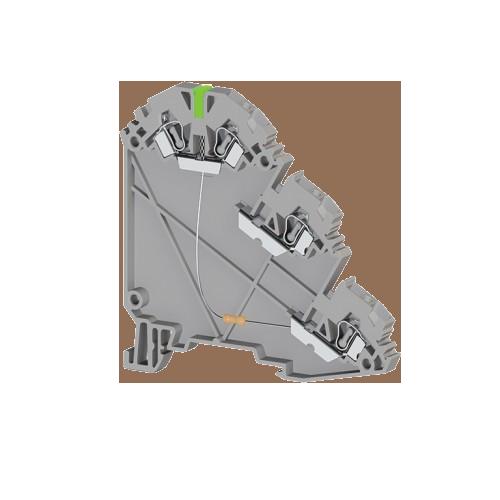 324719, Клеммник пруж. для датчиков, 2,5 мм.кв., с индик. 24 VDC, (серый), YBK 2,5-3 SLD (PNP) (упак 20 шт)