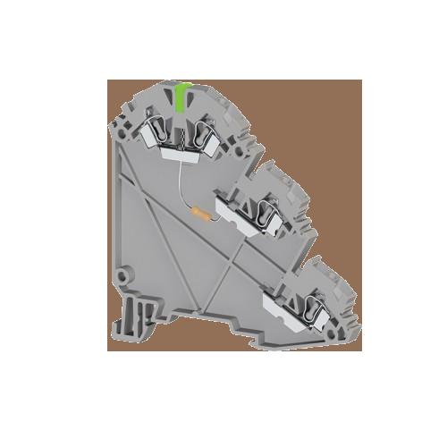 324729, Клеммник пруж. для датчиков, 2,5 мм.кв., с индик. 24 VDC, (серый), YBK 2,5-3 SLD (NPN) (упак 20 шт)
