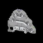 324809, Клеммник пружинный 2-х ярусный с контактом на рейку, 2,5 мм.кв., (серый); YBK 2,5-2 FT (упак 30 шт)