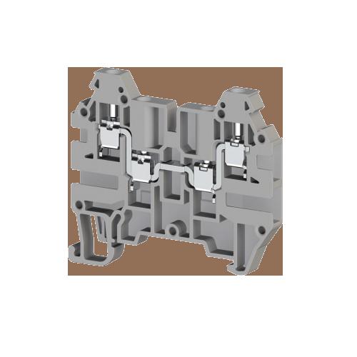 324909, Клеммник 4-х выводной, 2,5 мм.кв., (серый); AVK 2,5 CC (упак 100 шт)