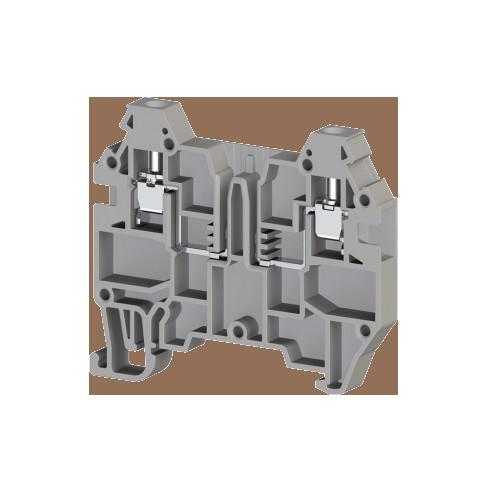 324929, Клеммник с возможностью установки картриджа, 2,5 мм.кв, (серый); AVK 2.5F (упак 80 шт)
