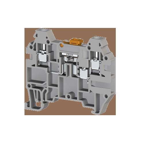 324949, Клеммник 3-х выводной с размыкателем, 2,5 мм.кв., (серый); AVK 2,5 EA (упак 80 шт)