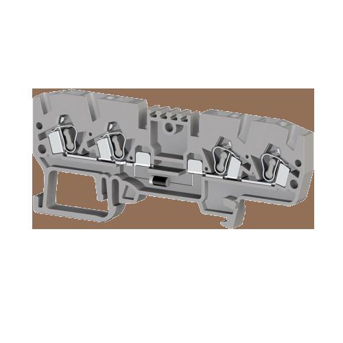 326219, Клеммник пружинный 4-х выводной, с диодом, 2,5 мм.кв., (серый); YBK 2,5CD (упак 50 шт)
