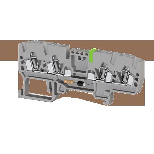 326419, Клеммник пружинный 4-х выводной, с индикацией 48 VAC, 2,5 мм.кв., (серый); YBK 2,5 CLD 48VAC (упак 50 шт)