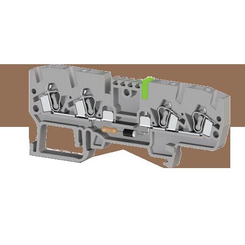 326429, Клеммник пружинный 4-х выводной, с индикацией 48 VDC, 2,5 мм.кв., (серый); YBK 2,5 CLD 48VDC (упак 50 шт)