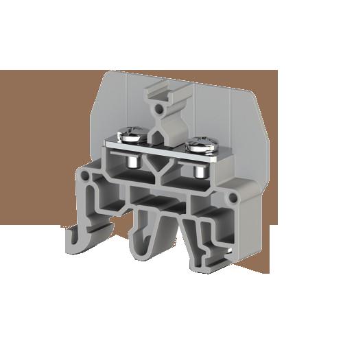 326809, Болтовой Клеммник под вилочный наконечник на DIN-рейку 6 мм.кв. (серый); CPB 6 (упак 50 шт)