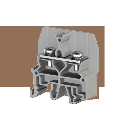 326819, Болтовой Клеммник под вилочный наконечник на DIN-рейку 6 мм.кв. (серый); CPB 6B (упак 25 шт)