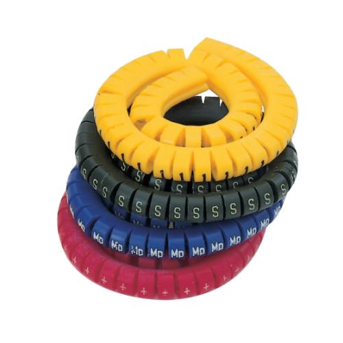 519539, Маркировка кабеля (кольцо) KEB 3 (4…16 мм.кв.), без надписей, (белый), (упак 500 шт)